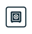 bank safe icon Rounded squares button vector image