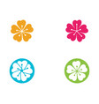 beauty icon flowers design vector image
