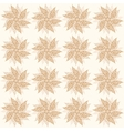 Beige vintage flowers seamless ornament vector image vector image