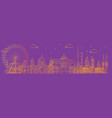 berlin skyline line art 5 vector image