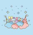 birthday party cartoons vector image