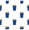 blue plastic wastebasket pattern seamless vector image vector image