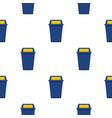 blue plastic wastebasket pattern seamless vector image vector image
