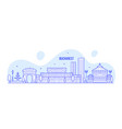 bucharest skyline romania city buildings vector image vector image
