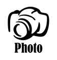 Camera icon or symbol vector image