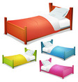 cartoon bed set vector image vector image