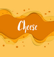 cheese background vector image
