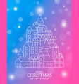 christmas and new year card colorful city vector image vector image