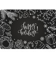 christmas doodles collection vector image vector image