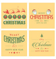 christmas greetings card design with light vector image vector image