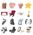 Cinema cartoon icons set vector image vector image