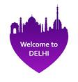 DelhiW vector image