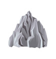 flat icon of gray rocky mountain with vector image vector image