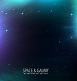 galaxy with stars vector image vector image