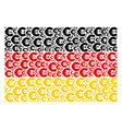 germany flag collage of euro icons vector image vector image
