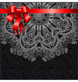 Holiday background with red ribbon eps10 vector image vector image