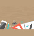 horizontal banner collection concept office top vector image