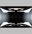hud hi tech futuristic white elements security vector image vector image