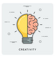 idea and creativity thin line concept vector image vector image