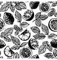 ink hand drawn tea with lemon seamless pattern vector image vector image