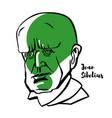 jean sibelius portrait vector image vector image