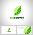 Leaf Logo and stairs concept vector image vector image