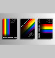 lgbt colorful backgrounds with gradient lines vector image