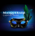 masquerade mask background vector image
