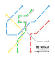 metro map subway map design template vector image