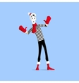 Mime performance behind wall vector image vector image