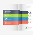 modern infographic business origami style options vector image