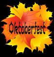 oktoberfest card oktoberfest handwritten text vector image vector image