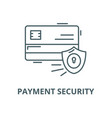 payment security line icon linear concept vector image vector image