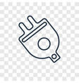 plug concept linear icon isolated on transparent vector image vector image