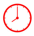 red clock icon on white background clock sign vector image vector image