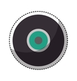retro vinyl isolated icon vector image vector image