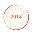 Round the calendar in 2018 vector image