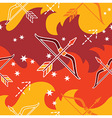 Sagittarius - Zodiac seamless pattern vector image