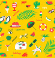 seamless pattern with summer beach objects vector image vector image
