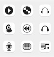 set of 9 editable song icons includes symbols vector image vector image