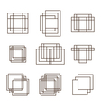 Set of geometric shapes squares and lines for your vector image