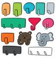 set of wall hooks vector image vector image
