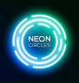 shining round techno circles night club sign vector image vector image