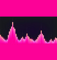 sound wave from equalizer background pink graphic vector image vector image