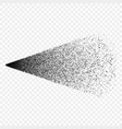 spraying black particles the splatter effect vector image vector image