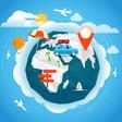 Summer season vacation concept Travel vector image