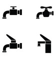 tap icon set vector image vector image