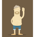 The old drunk man say Hello vector image