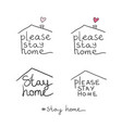 title lettering please stay home on white vector image vector image