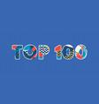 top 100 concept word art vector image vector image